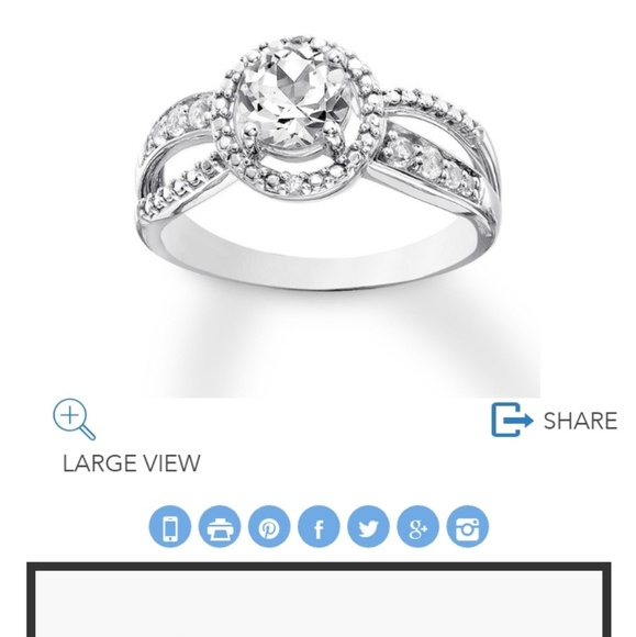 Kay Jewelers Jewelry Labcreated White Sapphire Ring Sterling Silver Poshmark